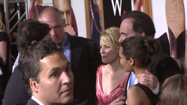 stockvideo's en b-roll-footage met elizabeth banks oliver stone and thandie newton at the new york premiere of 'w' at new york ny - oliver stone