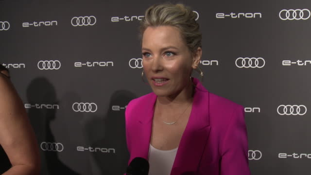 interview elizabeth banks on why she wanted to celebrate emmy's with audi what we'd find in her car how it was to direct action scenes with audi for... - emmy awards stock videos & royalty-free footage