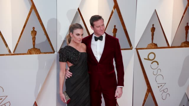 Elizabeth Chambers and Armie Hammer at Dolby Theatre on March 04 2018 in Hollywood California