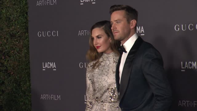 elizabeth chambers and armie hammer at the 2017 lacma art film gala honoring mark bradford and george lucas and presented by gucci at lacma on... - armie hammer stock videos & royalty-free footage
