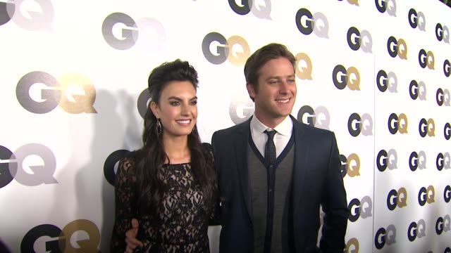 elizabeth chambers armie hammer at the gq's 2011 'men of the year' party at los angeles ca - armie hammer stock videos & royalty-free footage