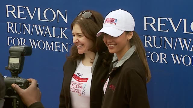 Elizabeth Crystal Sr VP of Color Cosmetics Revlon and Jessica Alba at the Revlon Run/Walk For Women Celebration of 14 Years in Los Angeles at the Los...
