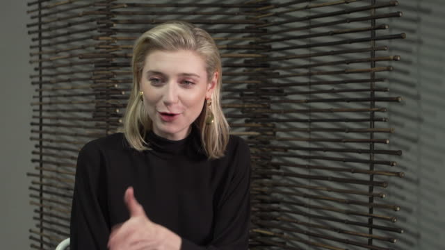 elizabeth debicki actress on overthinking and whether she could have made a good psychoanalyst at 'the burnt orange heresy' interviews 76th venice... - 76th venice film festival 2019点の映像素材/bロール