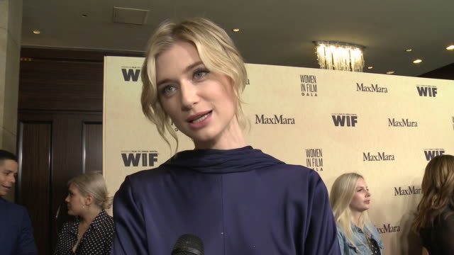 elizabeth debicki at 2019 women in film annual gala presented by max mara with additional support from partners delta air lines and lexus at the... - the beverly hilton hotel stock videos & royalty-free footage
