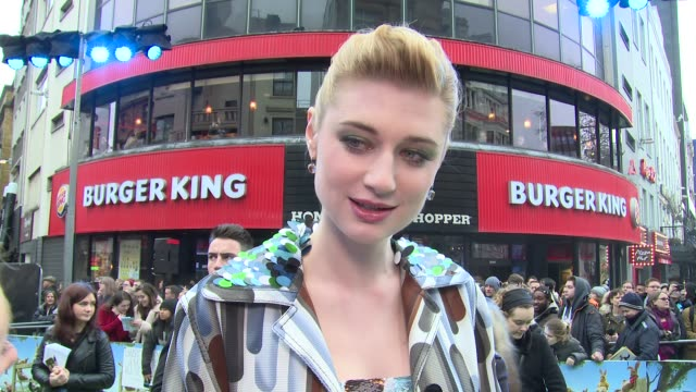 INTERVIEW Elizabeth Debicki on the possibility of a Peter's sister movie and her love of Peter while growing up at Vue West End on March 11 2018 in...