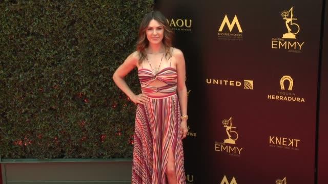 Elizabeth Hendrickson at the 2018 Daytime Emmy Awards at Pasadena Civic Auditorium on April 29 2018 in Pasadena California
