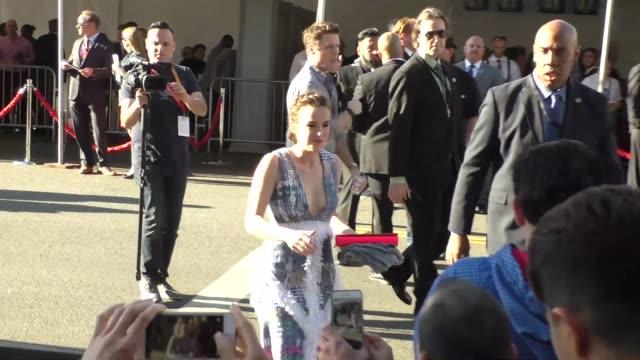 stockvideo's en b-roll-footage met elizabeth henstridge arriving to captain america civil war premiere at dolby theatre in in hollywood in celebrity sightings in los angeles - dolby theatre