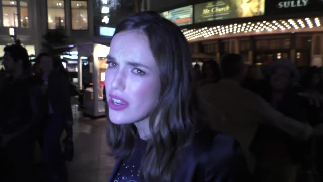 interview elizabeth henstridge talks about why superhero's wear tights at the grove in hollywood celebrity sightings on september 19 2016 in los... - collant video stock e b–roll