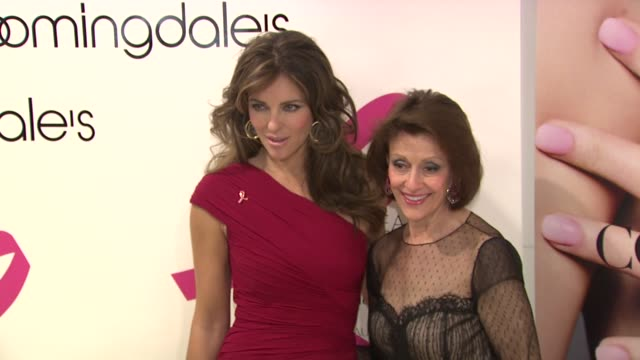 Elizabeth Hurley and Evelyn Lauder at the Bloomingdale's The Estee Lauder Companies Kick Off Breast Cancer Awareness Month at New York NY