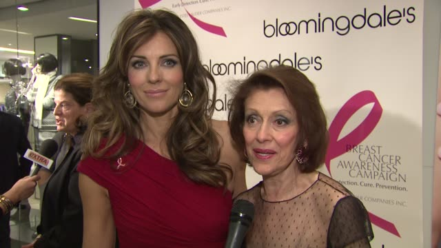 Elizabeth Hurley and Evelyn Lauder summarize the event happening at Bloomingdales and talk about what message they want to spread about breast cancer...