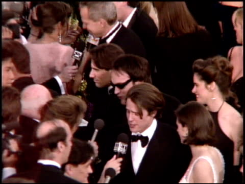 elizabeth hurley at the 1995 academy awards arrivals at the shrine auditorium in los angeles california on march 27 1995 - 1995 stock videos & royalty-free footage