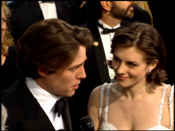 elizabeth hurley at the 1995 academy awards arrivals at the shrine auditorium in los angeles, california on march 27, 1995. - 67th annual academy awards stock videos & royalty-free footage