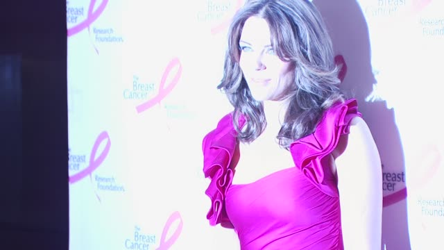 elizabeth hurley at the 2010 breast cancer research foundation's hot pink party - arrivals at new york ny. - hot pink stock videos & royalty-free footage