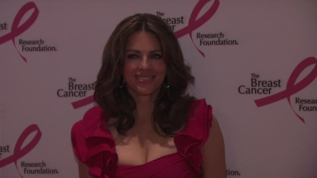 elizabeth hurley at the 2010 breast cancer research foundation's hot pink party arrivals at new york ny - hot pink stock videos and b-roll footage