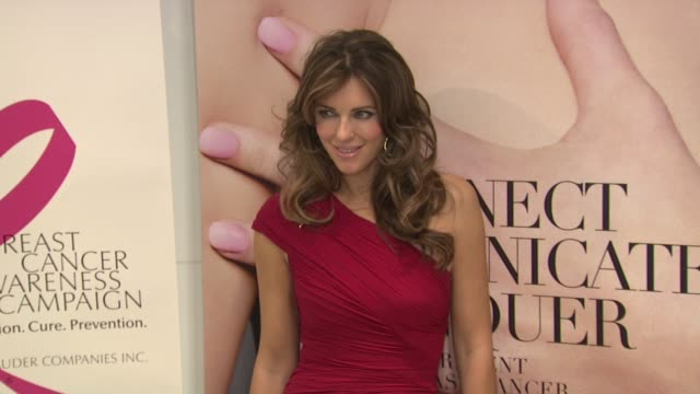 Elizabeth Hurley at the Bloomingdale's The Estee Lauder Companies Kick Off Breast Cancer Awareness Month at New York NY