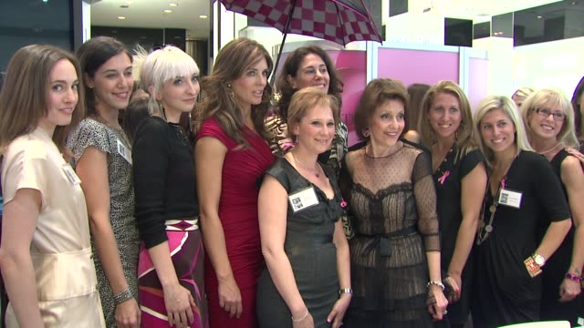 Elizabeth Hurley Evelyn Lauder and BCA Take the Pledge Blogger Subjects at the Bloomingdale's The Estee Lauder Companies Kick Off Breast Cancer...