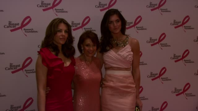 elizabeth hurley, evelyn lauder and hilary rhoda at the 2010 breast cancer research foundation's hot pink party - arrivals at new york ny. - hot pink stock videos & royalty-free footage