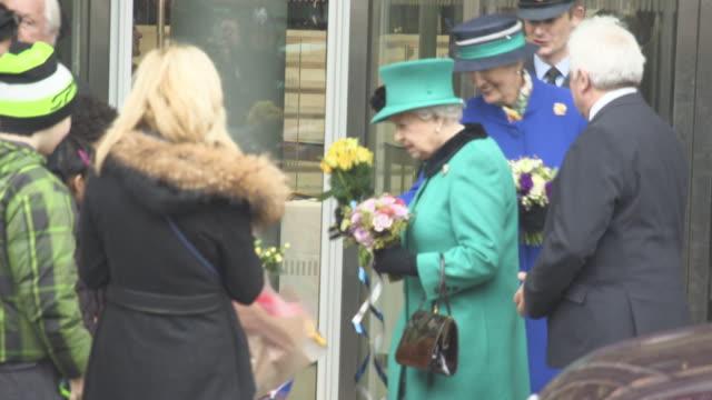 elizabeth ii prince philip duke of edinburgh leaving opening of the francis crick institute on november 09 2016 in london england - francis crick stock videos & royalty-free footage