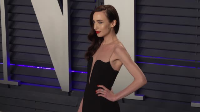 elizabeth jagger at 2019 vanity fair oscar party hosted by radhika jones at wallis annenberg center for the performing arts on february 24, 2019 in... - vanity fair oscar party stock videos & royalty-free footage