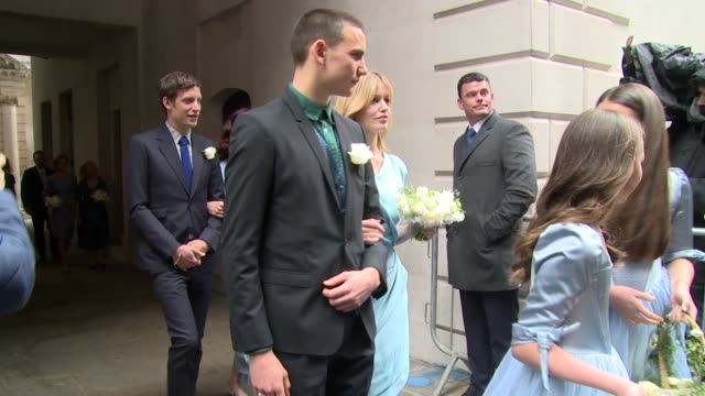 elizabeth jagger georgia may grace murdoch elisabeth murdoch at the wedding of jerry hall and rupert murdoch on march 05 2016 in london england - grace elizabeth stock videos & royalty-free footage