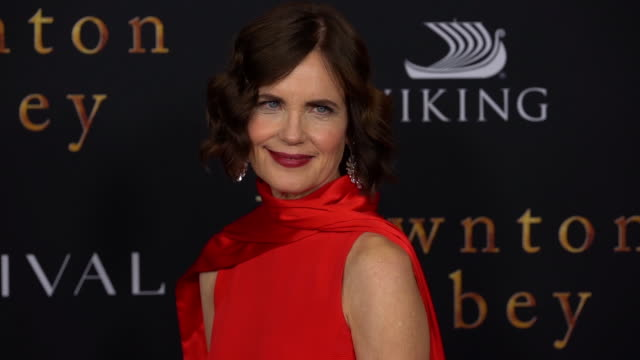 "elizabeth mcgovern at ""downton abbey"" new york premiere at alice tully hall on september 16, 2019 in new york city. - premiere stock videos & royalty-free footage"
