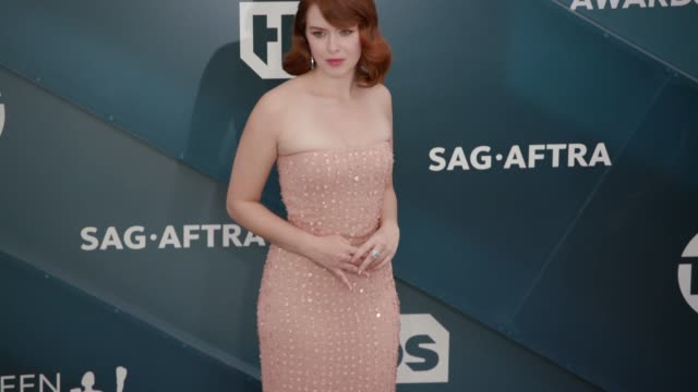 elizabeth mclaughlin at the 26th annual screen actors guild awards arrivals at the shrine auditorium on january 19 2020 in los angeles california - shrine auditorium stock videos & royalty-free footage