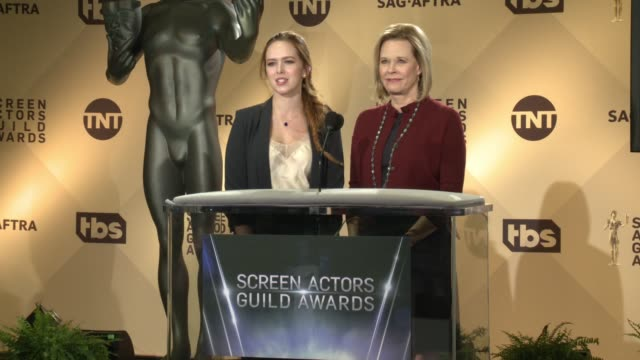 SPEECH Elizabeth McLaughlin JoBeth Williams at the 24th Annual Screen Actors Guild Awards Nominations at Pacific Design Center on December 13 2017 in...