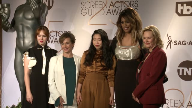 Elizabeth McLaughlin Laverne Cox Awkwafina Gabrielle Carteris JoBeth Williams at the 25th Annual Screen Actors Guild Awards Nominations at Pacific...