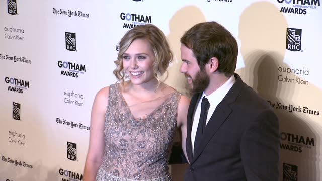 elizabeth olsen and sean durkin at the ifp's 21st annual gotham independent film awards - red carpet at new york ny. - independent feature project stock videos & royalty-free footage
