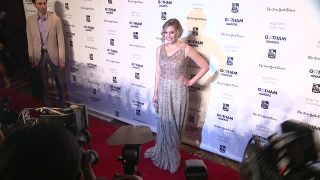 elizabeth olsen at the ifp's 21st annual gotham independent film awards - red carpet at new york ny. - independent feature project stock videos & royalty-free footage