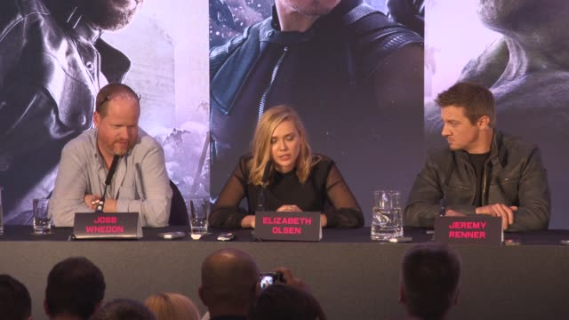 INTERVIEW Elizabeth Olsen on being happy to be taking part in this film the cast the script at 'Avengers The Age of Ultron' Press Conference at...