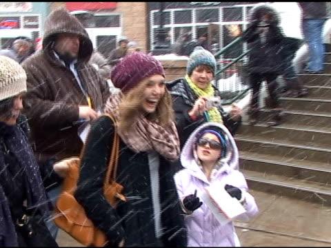 Elizabeth Olsen on Main Street at the Sundance Film Festival at the Celebrity Sightings in Park City Utah at Park City UT
