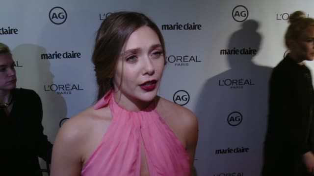 INTERVIEW Elizabeth Olsen on why she wanted to honor Mark Townsend Kate Lee why having a glam squad that you can trust is so important at Marie...