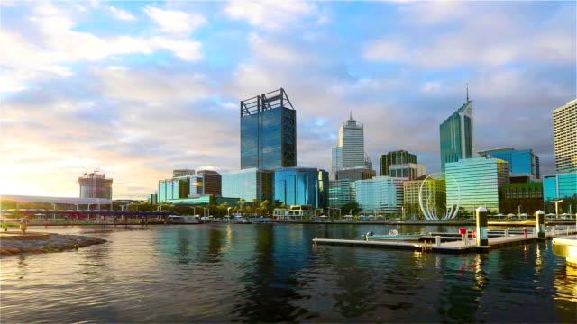 vídeos y material grabado en eventos de stock de elizabeth quay, perth, western australia/ australia - terminal de ferry
