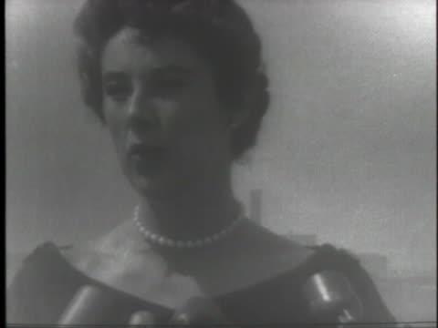 elizabeth sloane simpson, ex-wife of former new york mayor william o'dwyer, comments on the alleged corruption under o'dwyer. - 1953 stock videos & royalty-free footage