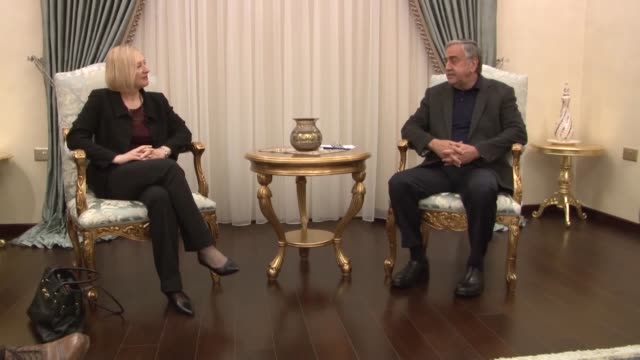 elizabeth spehar special representative of the united nations secretarygeneral and head of the un peacekeeping force in cyprus meets turkish republic... - 平和維持点の映像素材/bロール