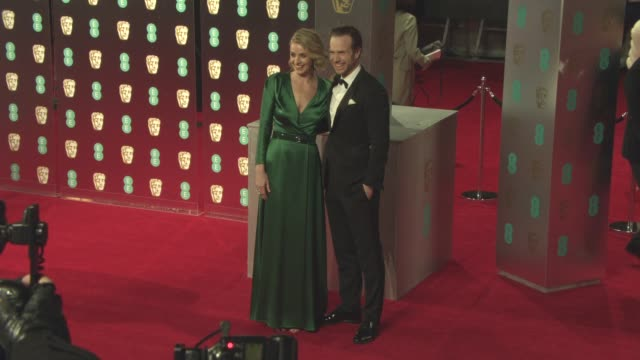 elize du toit rafe spall at ee british academy film awards at royal albert hall on february 12 2017 in london england - royal albert hall stock videos and b-roll footage