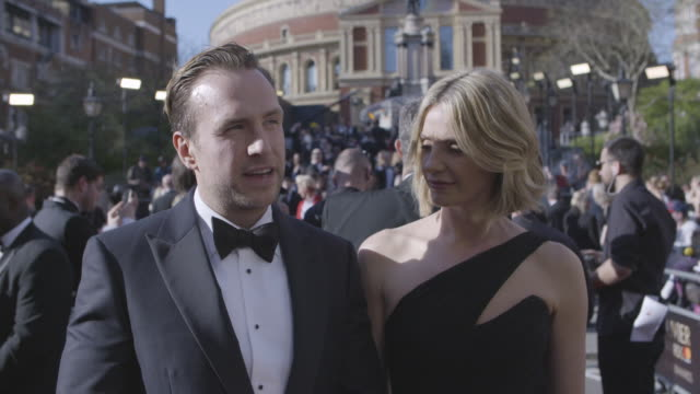 INTERVIEW Elize du Toit Rafe Spall on being proud of his people 'Harry Potter' the musical at The Olivier Awards with MasterCard on April 09 2017 in...