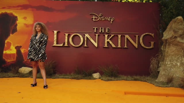 4k ella eyre at the lion king uk premiere on july 14 2019 in london greater london - beyoncé knowles stock videos & royalty-free footage