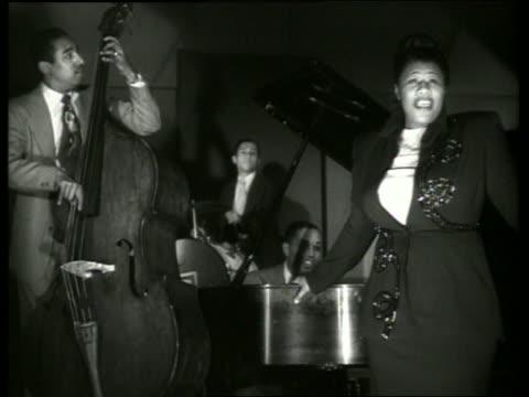 ella fitzgerald singing with musicians - ella fitzgerald stock videos & royalty-free footage
