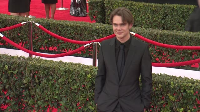 ellar coltrane at 21st annual screen actors guild awards - arrivals in los angeles, ca 1/25/15 - 黒のシャツ点の映像素材/bロール