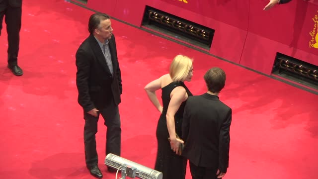 ellar coltrane, lorelei linklater, patricia arquette, richard linklater at closing ceremony - golden bear awards at berlinale palast on february 15,... - patricia arquette stock videos & royalty-free footage