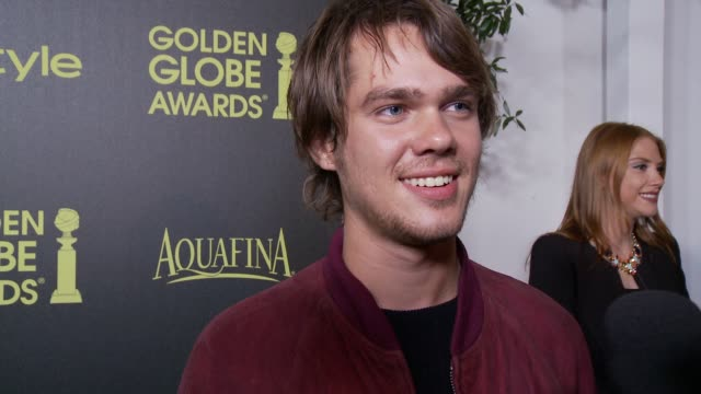 ellar coltrane on young hollywood golden globes and his favorite shows and movies - markenname stock-videos und b-roll-filmmaterial