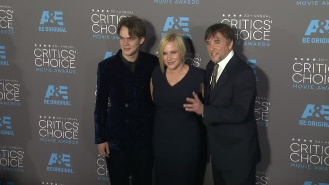 ellar coltrane, patricia arquette, and richard linklater at the 20th annual critics' choice awards at hollywood palladium on january 15, 2015 in los... - patricia arquette stock videos & royalty-free footage
