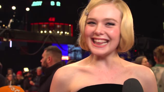 elle fanning, actress, on bringing glamour to the red carpet at the 70th berlin international film festival, berlin, germany 26 february 2020 - arts culture and entertainment stock videos & royalty-free footage