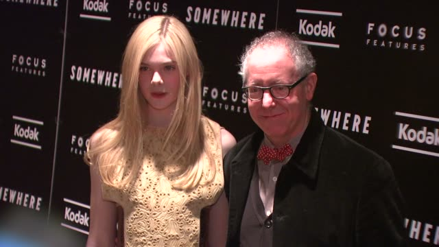 Elle Fanning and James Schamus at the 'Somewhere' Special Screening at New York NY