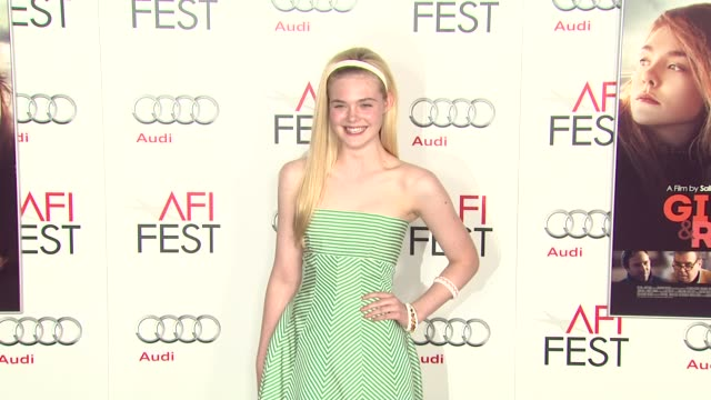 Elle Fanning at AFI Fest 2012 Ginger and Rosa Special Screening on 11/7/2012 in Hollywood CA