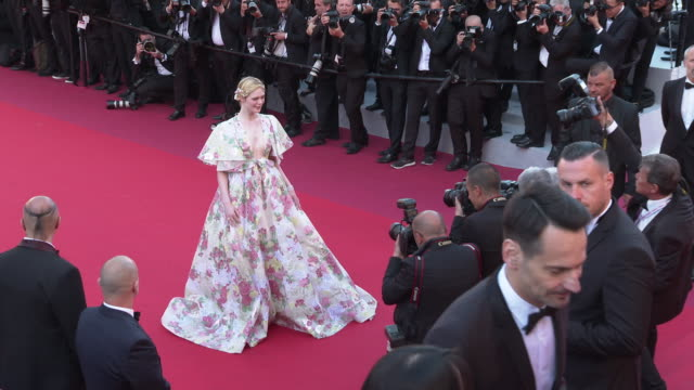 Elle Fanning at 'Les Miserables' Red Carpet Arrivals The 72nd Cannes Film Festival on May 15 2019 in Cannes France