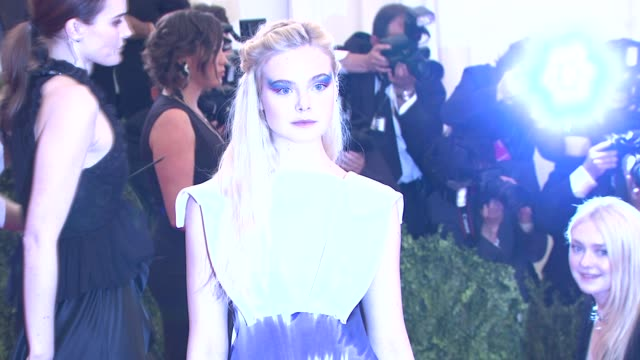 Elle Fanning at PUNK Chaos To Couture Costume Institute Gala at Metropolitan Museum of Art on May 06 2013 in New York New York