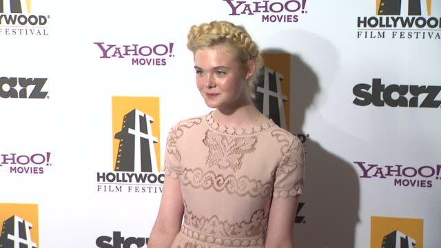 Elle Fanning at the 15th Annual Hollywood Film Awards Gala at Beverly Hills CA